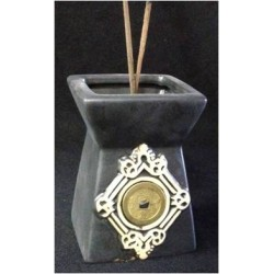 BLACK CERAMIC INCENSE STICK HOLDER