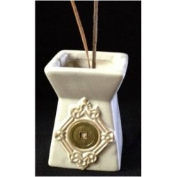 WHITE CERAMIC INCENSE STICK HOLDER