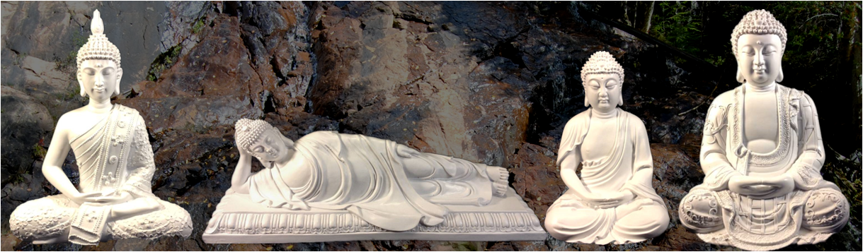 White poly-resin buddha