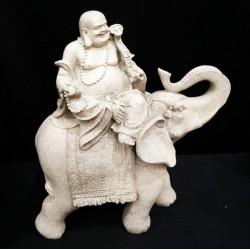 CB35R Laughing Buddha with Elephant