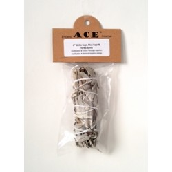 "4"" White, Blue Sage&Yerba Santa Mixed Smudge"