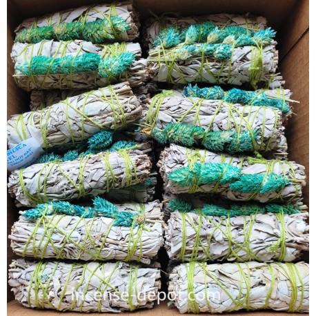 """MIX White Sage /Eucalyptus /Mullein/Brum 4""""(40 pk)"""