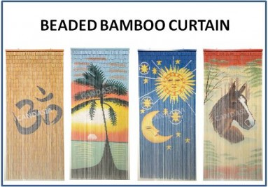 Beaded Bamboo Curtain